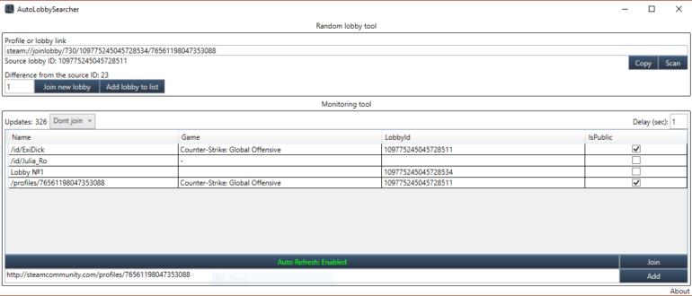 Скриншот AutoLobbySearcher