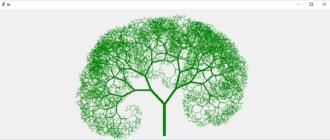 Превью фрактального дерева